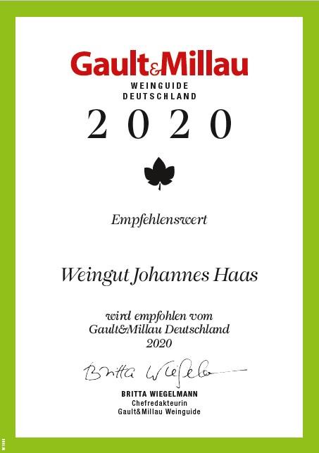 Auszeichnung Gault Millau 2020