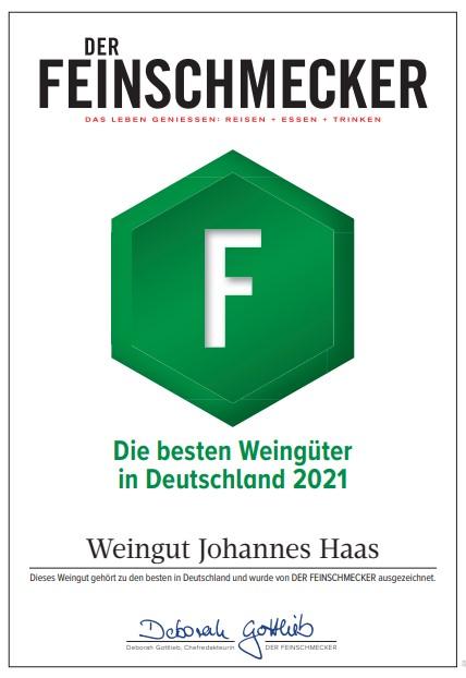 Auszeichnung Feinschmecker - Die besten Weingüter in Deutschland 2021