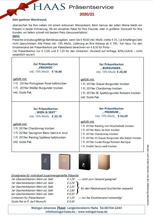 Präsentservice Weinhaus Haas